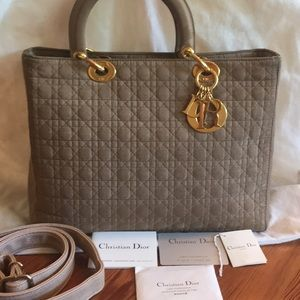 Authentic Lady Dior, cannage microfibre!